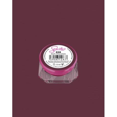 030 UV гель Semilac цвета dark chocolate