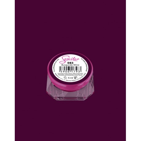 083 UV гель Semilac цвета burgund wine