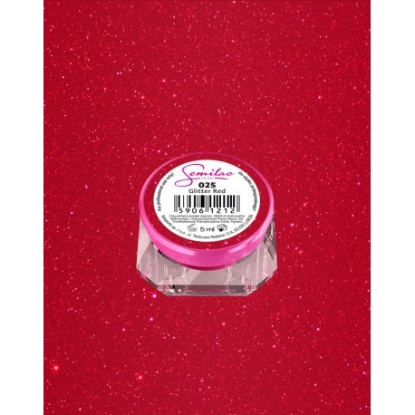 025 UV гель Semilac цвета glitter red