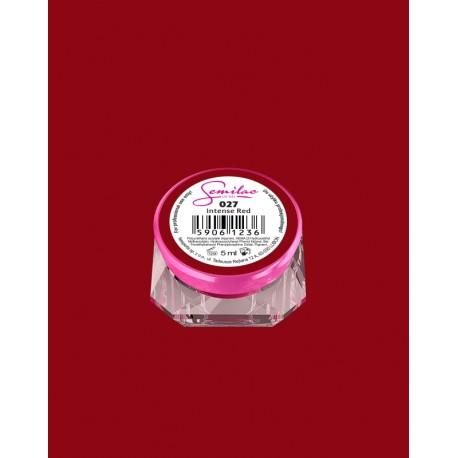 027 UV гель Semilac цвета intense red