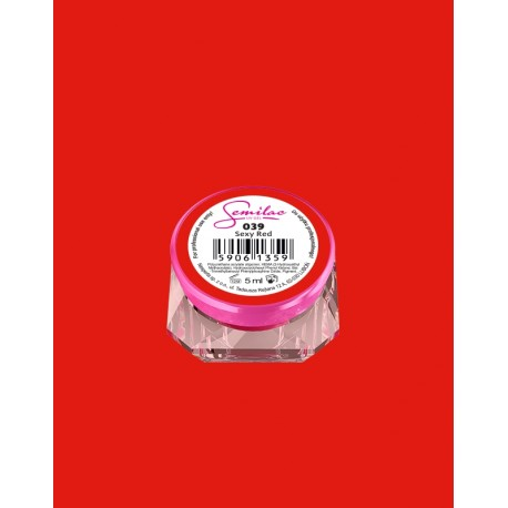 039 UV гель Semilac цвета sexy red