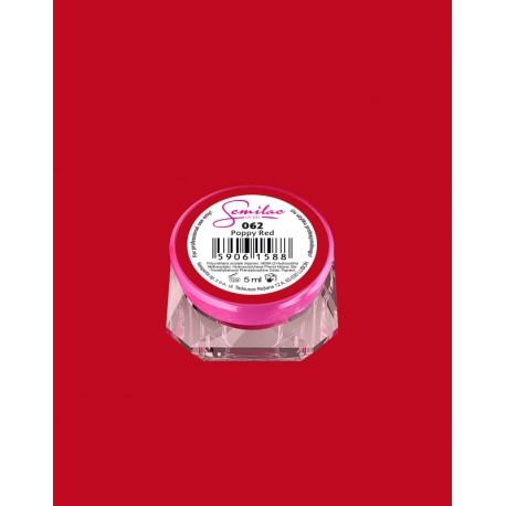 062 UV гель Semilac цвета poppy red