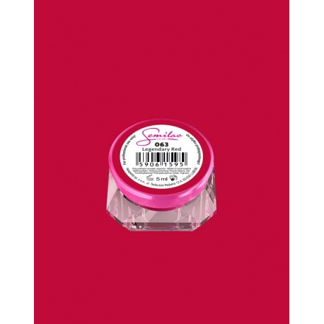 063 UV гель Semilac цвета legendary red