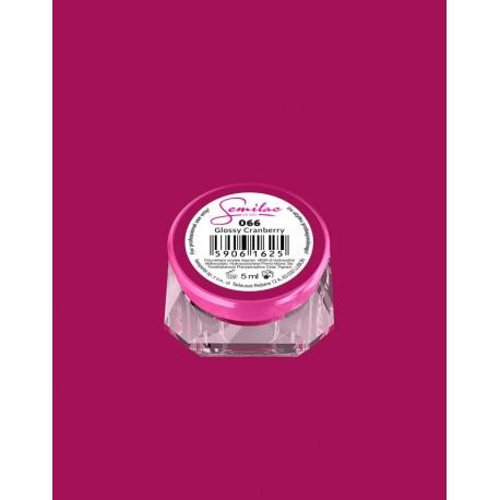 066 UV гель Semilac цвета glossy cranberry