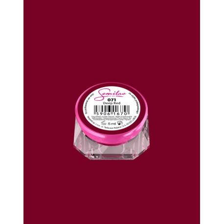 071 UV гель Semilac цвета deep red