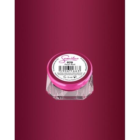 070 UV гель Semilac цвета pearl red