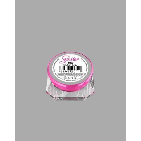 105 UV гель Semilac цвета stylish gray