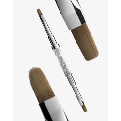 Кисть «2в1»: плоская и овальная Semilac® Gel Brush № 4 (flat+oval)